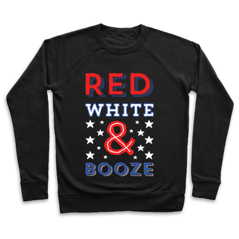 Red White & Booze Pullover