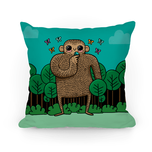 Baby Bigfoot Pillow