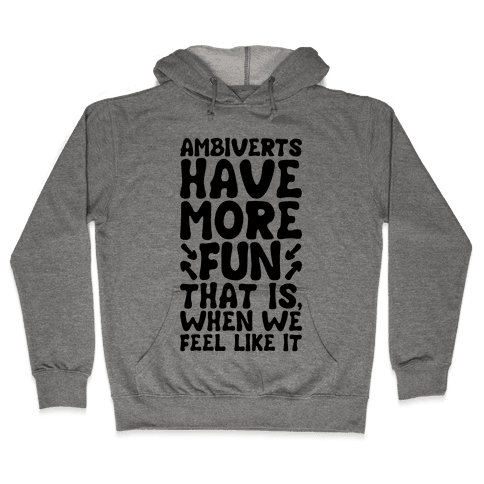 Ambiverts Have More Fun Hooded Sweatshirt