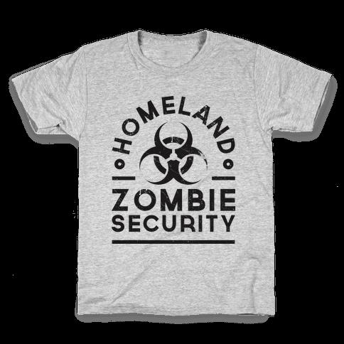 Homeland Zombie Security Kids T-Shirt