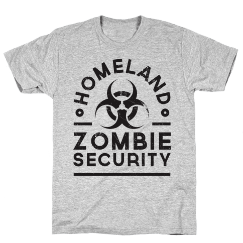 Homeland Zombie Security Mens T-Shirt