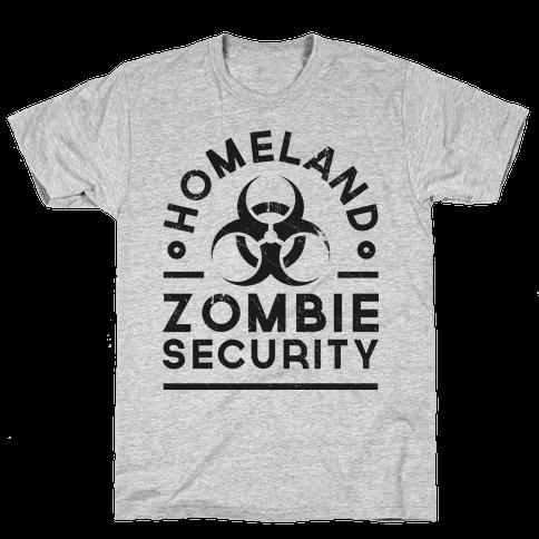 Homeland Zombie Security Mens T-Shirt
