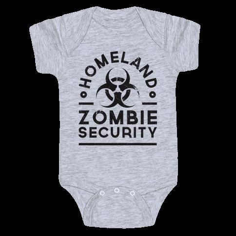 Homeland Zombie Security Baby Onesy
