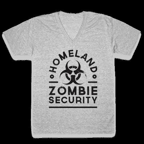 Homeland Zombie Security V-Neck Tee Shirt