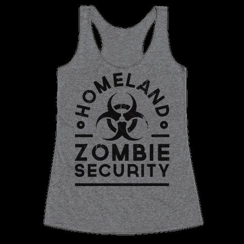 Homeland Zombie Security Racerback Tank Top