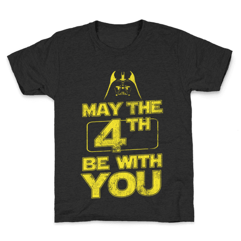 May the 4th Be With You (Vintage) Kids T-Shirt