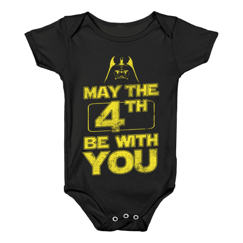 May the 4th Be With You (Vintage) Baby Onesy