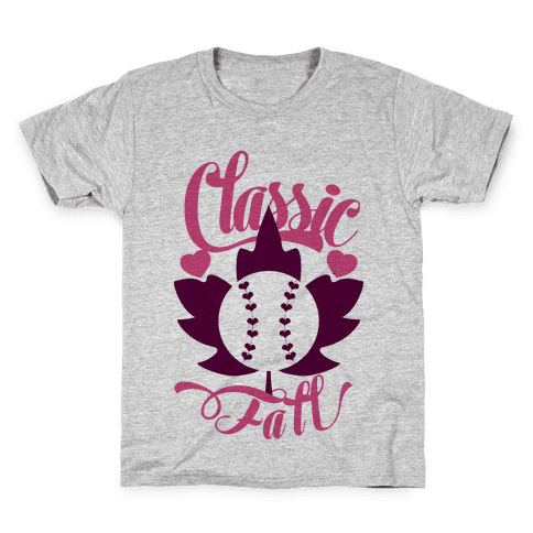 Classic Fall (Baseball World Series) Kids T-Shirt