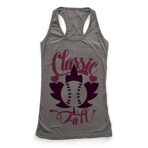 Classic Fall (Baseball World Series) Racerback Tank Top