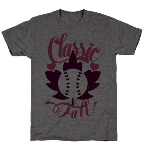 Classic Fall (Baseball World Series) Mens T-Shirt