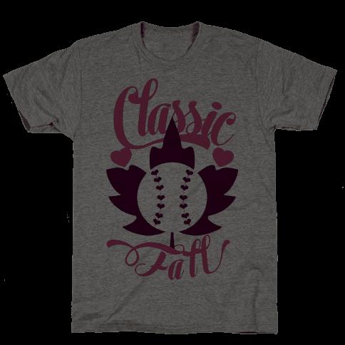 Classic Fall (Baseball World Series) Mens T-Shirt