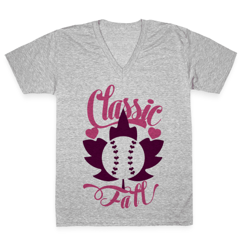 Classic Fall (Baseball World Series) V-Neck Tee Shirt