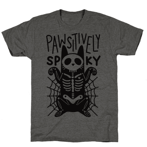 Pawsitively Spooky Mens T-Shirt