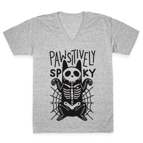 Pawsitively Spooky V-Neck Tee Shirt