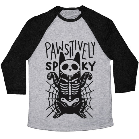 Pawsitively Spooky Baseball Tee