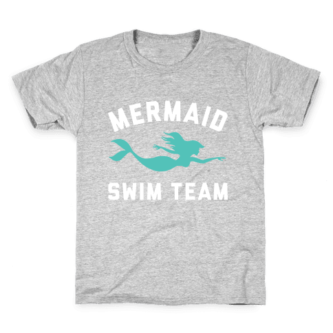 Mermaid Swim Team Kids T-Shirt