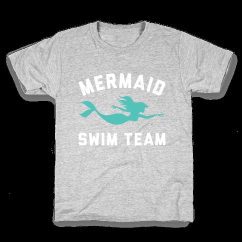 Mermaid Swim Team Kids T-Shirt
