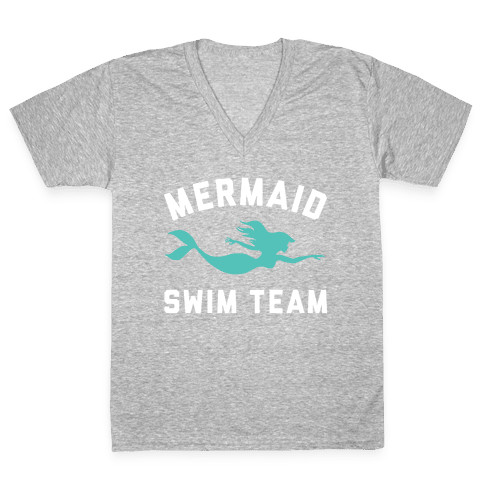 Mermaid Swim Team V-Neck Tee Shirt