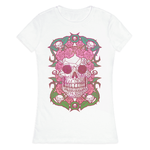 Diamonds and Roses Womens T-Shirt