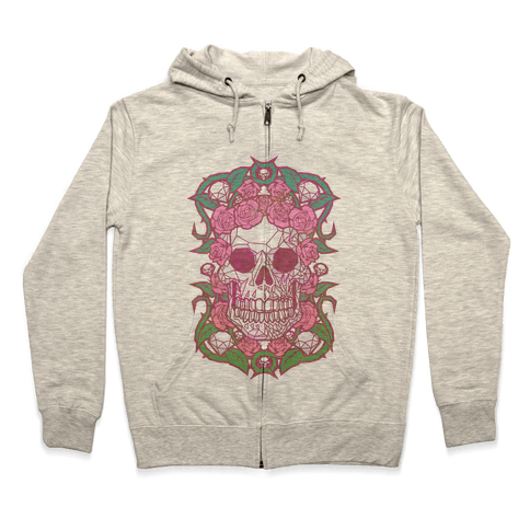Diamonds and Roses Zip Hoodie