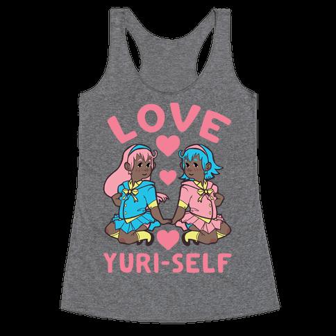 Love Yuri-Self Racerback Tank Top