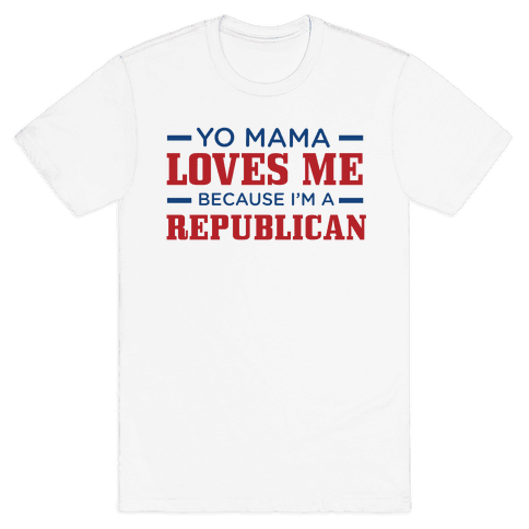 Mama Loves Republicans Mens T-Shirt
