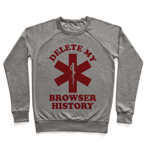 Delete my Browser History Pullover