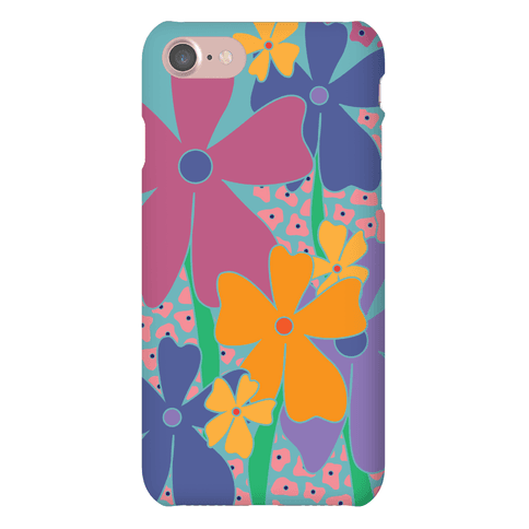 Happy Flowers Pattern Phone Case