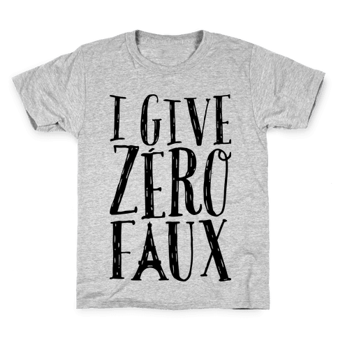I Give Zero Faux Kids T-Shirt