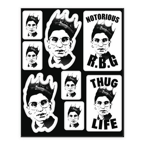 Notorious R.B.G.  Sticker/Decal Sheet