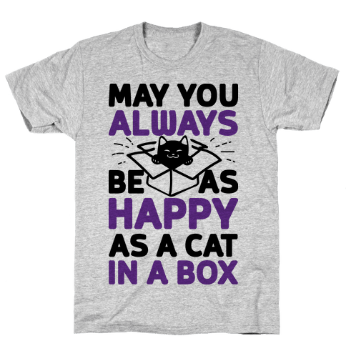 May You Always Be As Happy As A Cat In A Box Mens T-Shirt