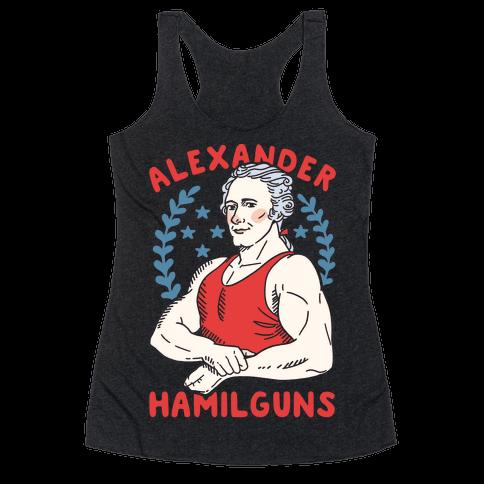 Alexander HamilGUNS Racerback Tank Top