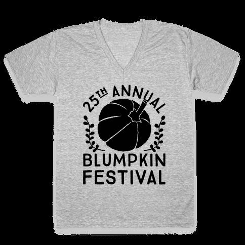 Blumpkin Festival V-Neck Tee Shirt