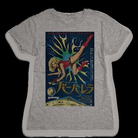 Japanese Barbarella Womens T-Shirt