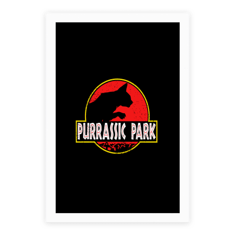 Purrassic Park Poster