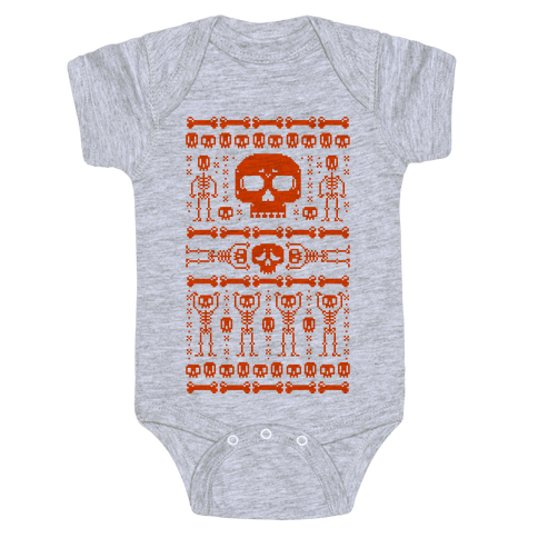 Ugly Skeleton Sweater Baby Onesy