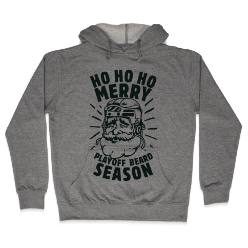Merry Playoff Beard Season Hooded Sweatshirt