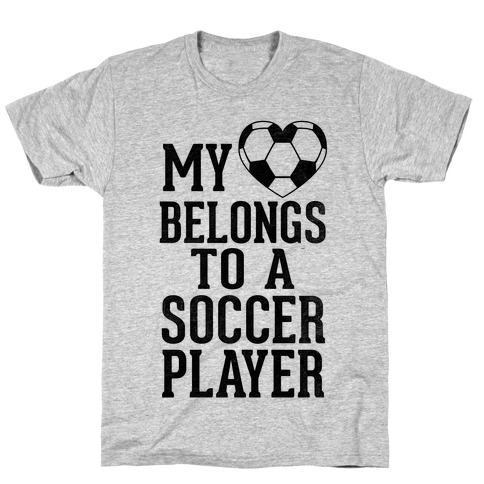 My Heart Belongs to A Soccer Player (Baseball Tee) T-Shirt