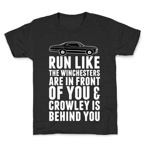 Run Like The Winchesters Kids T-Shirt