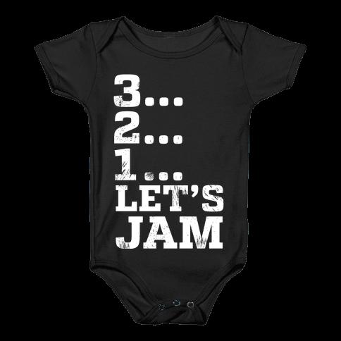 3 2 1 Let's Jam! Baby Onesy