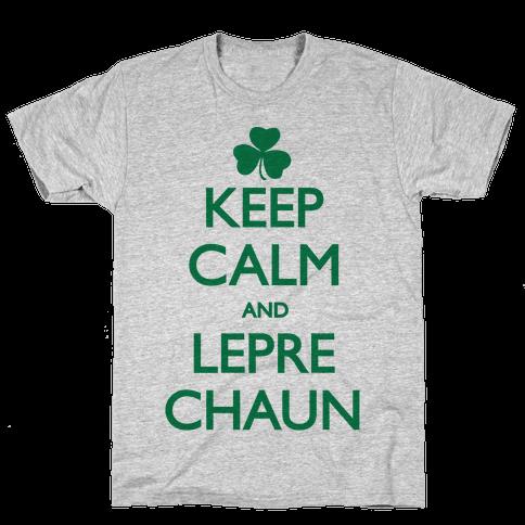 Keep Calm and Leprechaun Mens T-Shirt