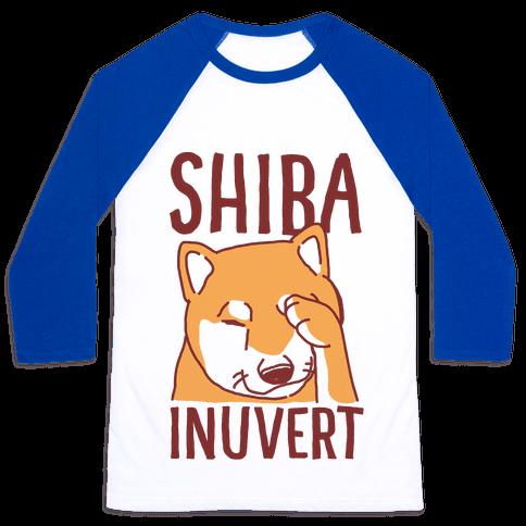 Shiba Inuvert Baseball Tee
