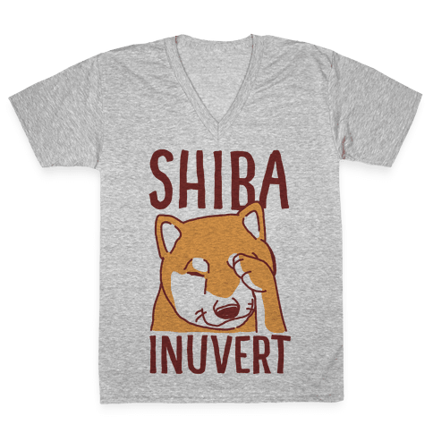 Shiba Inuvert V-Neck Tee Shirt