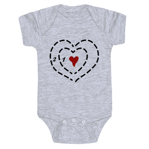 A Heart Two Sizes Too Small Baby Onesy