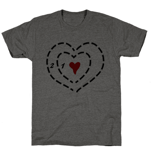 A Heart Two Sizes Too Small Mens T-Shirt