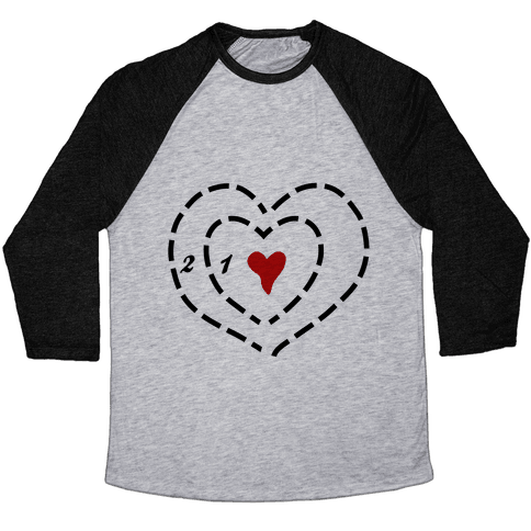 A Heart Two Sizes Too Small Baseball Tee