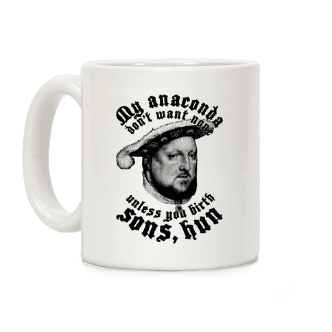 Henry VIII Anaconda Coffee Mug