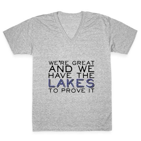 Lakes V-Neck Tee Shirt