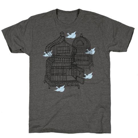Open Birdcage T-Shirt