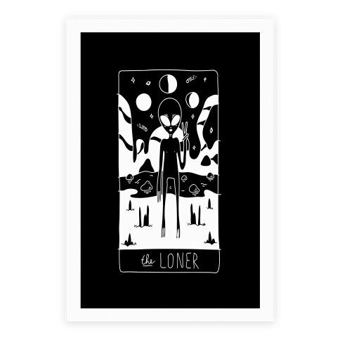 The Loner Tarot Card Poster